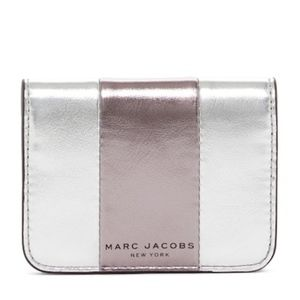 Marc Jacobs Bicolor Metallic Leather CC Wallet